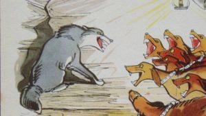 Басня Волк на псарне