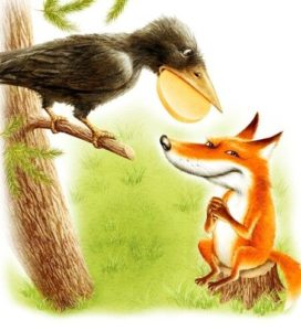 Басня Крылова Ворона и лисица