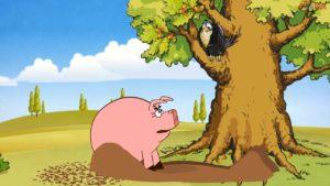 Басня Свинья под дубом