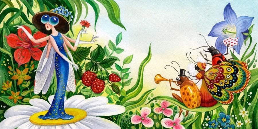 Картинки стрекоза и муравей
