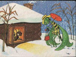 БасняСтрекоза и муравей читать текст