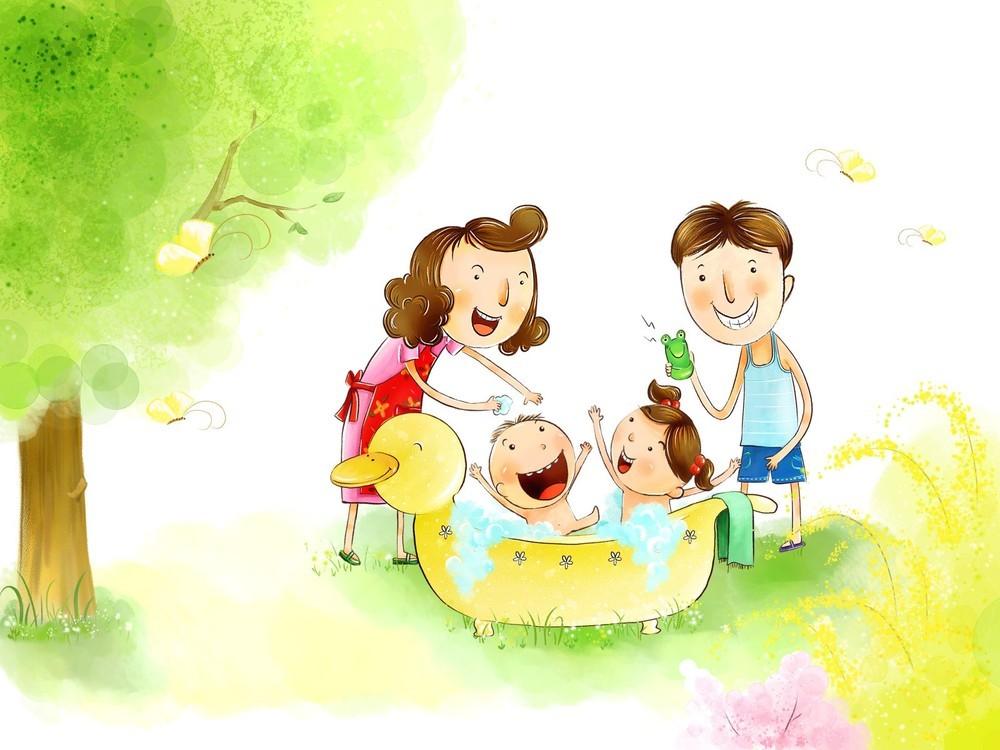 Прикольные рисунки семьи