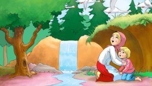Особенности композиции сказки «Гуси-лебеди»
