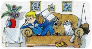 Рассказ Витя Малеев в школе и дома
