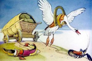 Иван Крылов — Лебедь, Рак и Щука